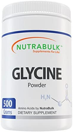 NutraBulk Glycine Amino Acid Powder – 500 Grams 1.1lbs