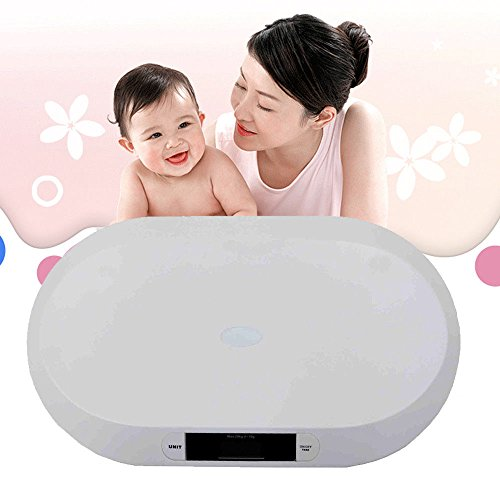 TFCFL White Digital Smart Tare Baby Scale Body Weight for Baby 20kg/44lbs High Precision from TFCFL
