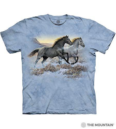 - The Mountain Running Free-Xl Adult T-Shirt, Blue, XL