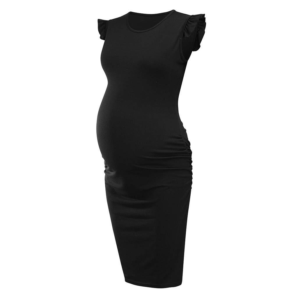Vestidos Premama Verano Maternidad Ropa para Mujer,Mujeres Maternidad Verano sin Mangas Casual Sundress Vestido de Vestir Ropa Vestido de Lactancia Maternidad de Noche Camis/ón