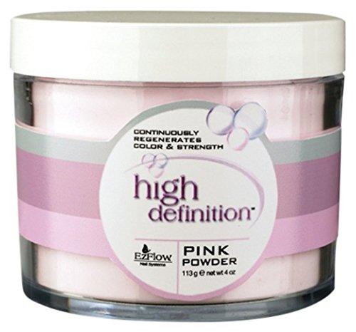 EZ Flow High Definition Pink Powder False Nails, 4 Ounce - Ezflow Hd Powder