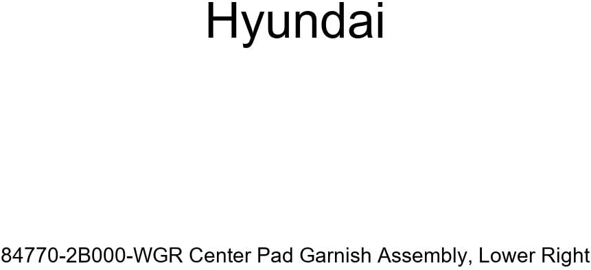 Genuine Hyundai 84770-2B000-WGR Center Pad Garnish Assembly Lower Right