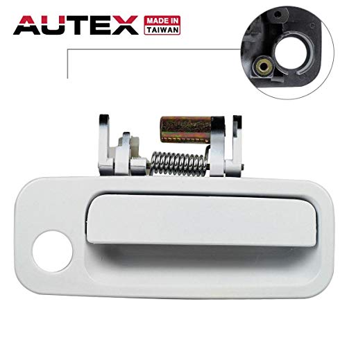 AUTEX 1pc White Exterior Door Handle-Front Right (Passenger Side) Compatible with 1997 1998 1999 2000 2001 Toyota Camry (Bulit In Japan) 79427, 69210-AA010, 69210AA010 ()