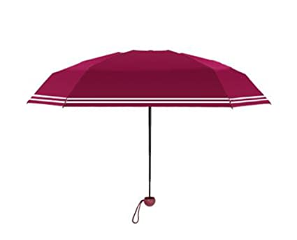 Umbrella Mini Parasol Paraguas Ultraligero para Mujer Protección Solar Anti-UV Azul Rosa Rojo Verde