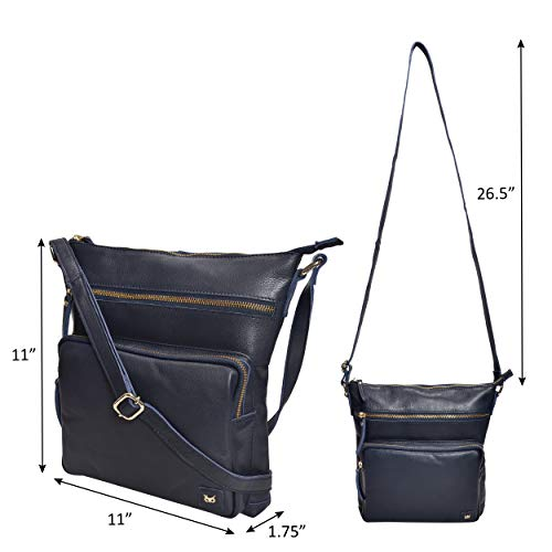 Leather Crossbody Purses and Handbags for Women-Premium Crossover Bag Over the Shoulder Womens