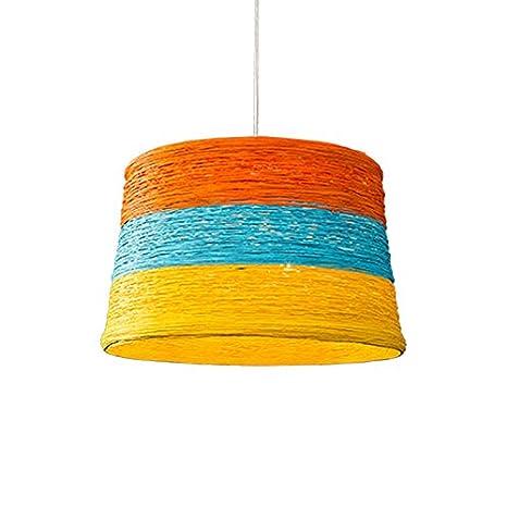 YBFQ LED Las Telas Color Idílico Lámpara De Techo: Amazon.es ...