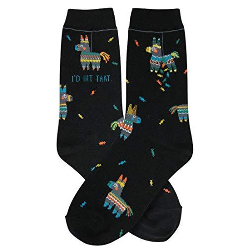 Foot Traffic - Women's GIRL POWER Novelty Socks, Fits Women's Shoe Sizes 4-10 (I'd Hit That)