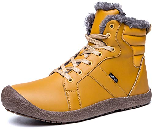 Mens Athletic Waterproof Boots - JIASUQI Mens Outdoor Waterproof Athletic Shoes Yellow 10 M US