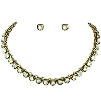 c2ff7f182d Buy Karatcart D Shape Kundan Necklace Set for Women Online at Low Prices in  India | Amazon Jewellery Store - Amazon.in