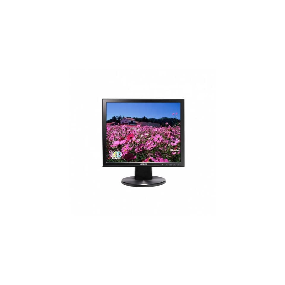 Asus VB178T 17 inch Standard Screen 50,000,0001 5ms VGA/DVI LED LCD Monitor, w/ Speakers (Black) Computers & Accessories
