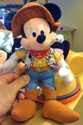 Disney Toy Story Mickey Mouse as Woody Plush Doll -
