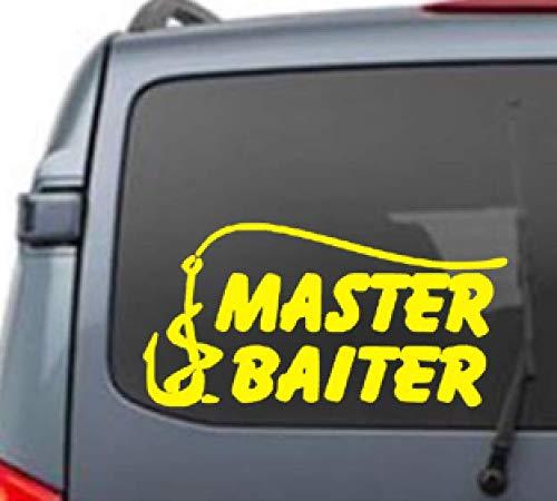 Master Baiter vinyl sticker car truck boat jets ski water sports fishing windows kids mens boys tweens fishing poles
