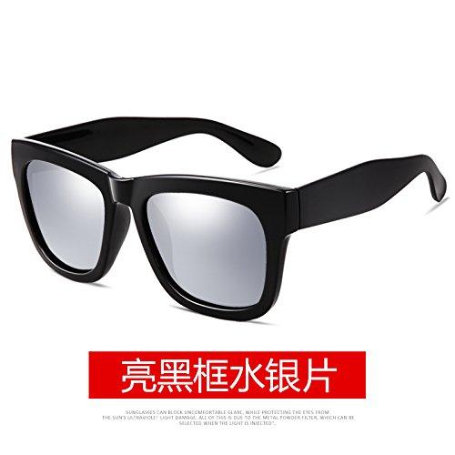 moda gafas de sol KOMNY gafas de antiguo Black marea marco Frame de definición negro lente de conducción alta brillante negro Bright Mercury Film Macho cuadro polarizadas gafas ceniza wtRxqPrAXR
