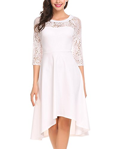fitted a line lace wedding dress - 8