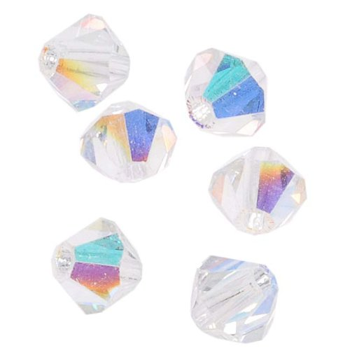 50 Bicone Czech Glass Beads - 6