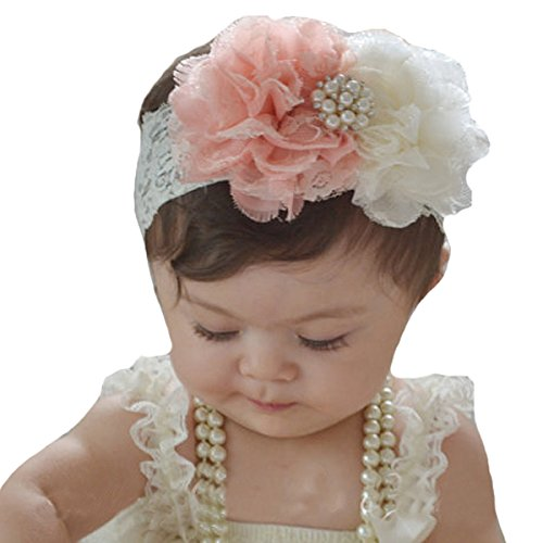 (Miugle Baby Girl Lace Headbands with Bows)