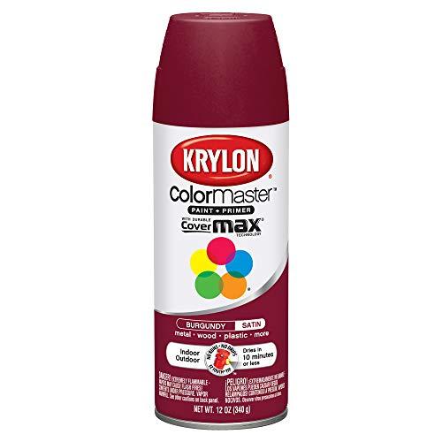- Krylon 53503 SW53503 12 oz Satin Burgundy Color Master Enamel Spray Paint 12 Ounce Aerosol