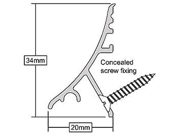 ICD gocciolatoio per porta con sistema di fissaggio a scomparsa palissandro 914mm 07CA0260914RWO