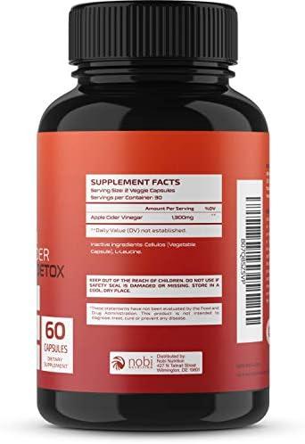 Nobi Nutrition Apple Cider Vinegar Fat Burner Pills for Women - Premium Weight Loss Supplement - Womens Metabolism Booster & Appetite Suppressant - Thermogenic Diet Pills - 60 Veggie Capsules 4