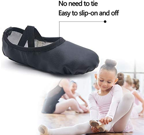 DIPUG Leather Ballet Shoes for Girls