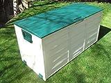 groundlevel.co.uk Weatherproof easy move XL garden storage box - Green Lid