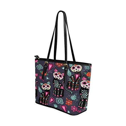Buy day of the dead cat purse