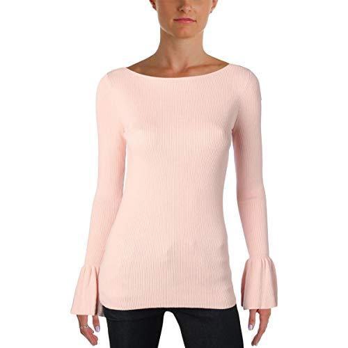 LAUREN RALPH LAUREN Womens Zakaria Knit Ribbed Pullover Sweater Pink M