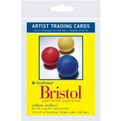 6 Pack 2.5'' x 3.5'' Vellum Surface Bristol Artist Trading Cards (Product Catalog: Paper Media, Canvas & Surfaces) by Strathmore