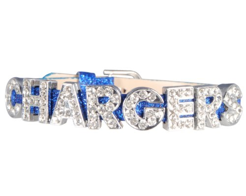 Uniform Chargers Diego San (Chargers Rhinestone Blue Glitter Bracelet)