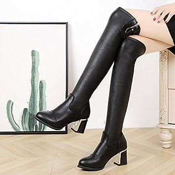 Stivali alti sopra il ginocchio senza tacco   Grandi Sconti