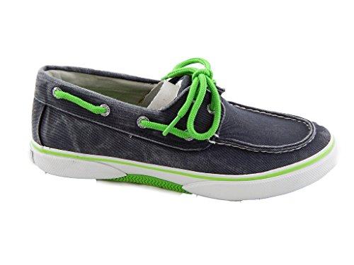 sperry top sider men s halyard 2 eye navy lime boat shoe
