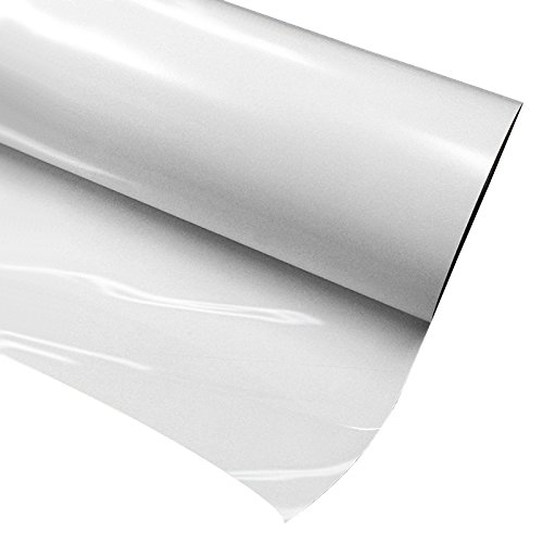 FIGHTA Iron on Heat Transfer Vinyl Roll 12 Inches x 5 Feet Gloss HTV Adhesive-Backed Vinyl for T-Shirts