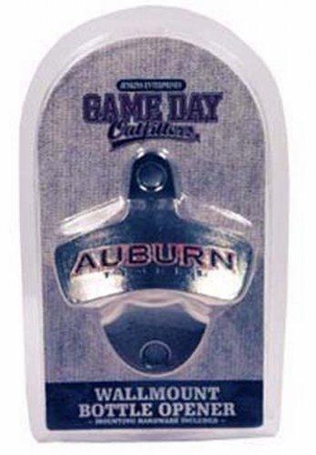 NCAA Auburn Tigers Bottle Opener Metal Retro Wall Mount, Small, Metallic with Team Color (Auburn Bottle Ncaa Tigers Opener)