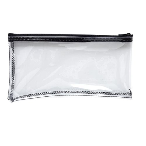Wholesale CASE of 25 - MMF Industries Clear View Vinyl Zipper Bag-Wallet Bags, with Zipper Top, Vinyl, 11''x6'', Clear by MMF
