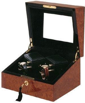 Sempre 2 Mechanical Watch Winder with Burl Case by Orbita