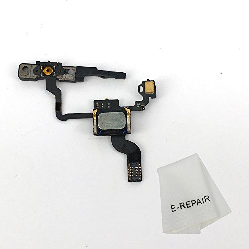 Power Button Sensor Proximity Light Flex Cable Replacement Kit with Brackets Earphone Preinstalled for iPhone 4s (Replacement Cable 4s Iphone)