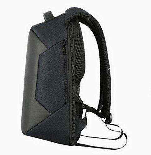 Mochila Antirrobo De Hombres Y Mujeres Bolsa De Carga USB Bolso De Ordenador Portátil Bolsa De Ocio De Viaje De Estudiantes Black