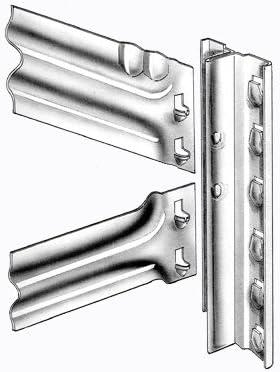 Steckregal Super1 Grundregal S1 2500x1270x320 mm 6 B/öden Fachbodenregal Metallregal Regalsystem Schwerlastregal Kellerregal Lagerregal