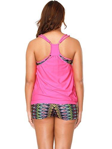 Bozevon Elegant 2 Bagno Stile Grossa Da Taglia Dresses Costumi Bikini Tops Costume amp; 1 Donna Pezzi Tankini Bottom OwxrOU