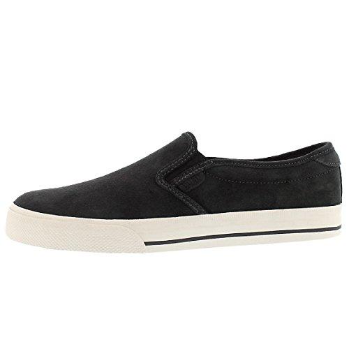 Polo Slip On - Polo Ralph Lauren Men's Vaughn Slip Sneaker, Dark Charcoal Grey, 9.5 D US