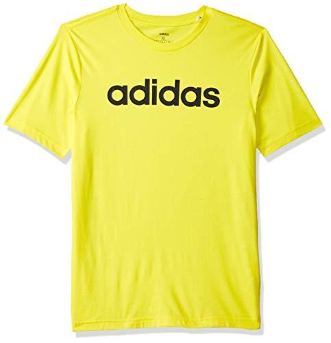 adidas Boys Tshirt Kids Young Essentials Linear Logo Tee Training DV1812 Yellow