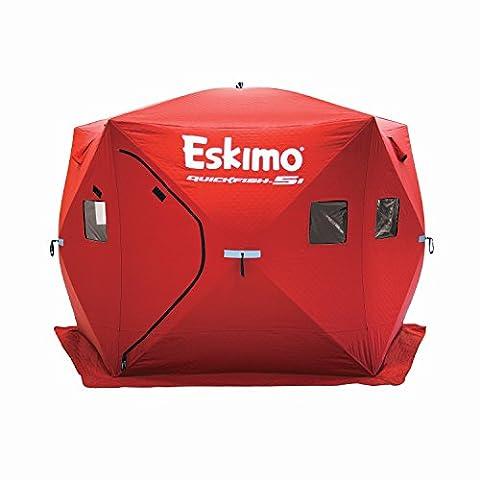 Eskimo Quickfish 5i Pop-up Portable Ice Shelter, 4 person (Eskimo Auger Bag)