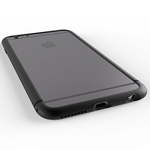 "[Made in Japan] SQUAIR ""The Edge"" [Black] iPhone 6 Bumper case for iPhone 6 Plus | Alminum Metal Bumper Frame"