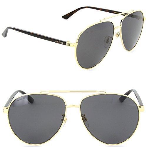 Gucci GG0043SA-002 Aviator Sunglasses Gold/Grey - Gucci Aviator Gold Sunglasses