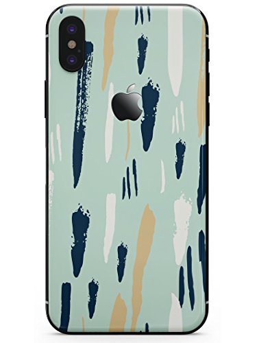Brushstroke Finish - Neutral Brush Strokes - DesignSkinz Ultra-Thin / Precision-Fit Skin for the iPhone X / Soft Matte Finish