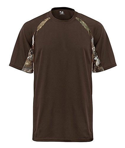 Badger Sport B-Dry Hook T-Shirt - 4144 - Brown / Force Camo - X-Large