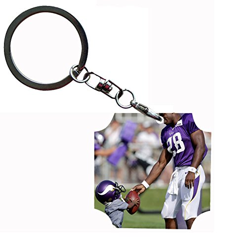 Peterson Pc - Generic Key Ring PC Card Style Adrian Peterson On It
