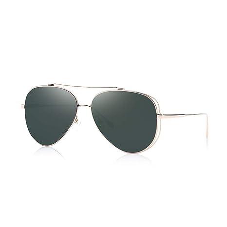 MGMDIAN Gafas de Sol de Aviador. Espejo de Rana Hueca ...