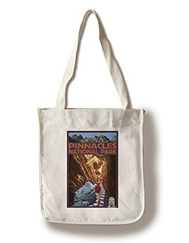 (Lantern Press Pinnacles National Park, California - Talus Caves (100% Cotton Tote Bag - Reusable))