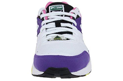 Puma Trinomic R698 Sneaker Schuhe 357837 02 weiß / violett weiß / violett
